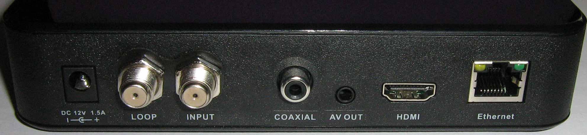 Openbox S2 Mini HD все разъемы на задней стороне