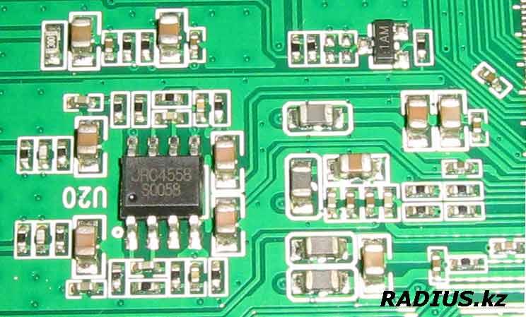 JRC4558 аудио усилитель в Openbox S2 Mini HD
