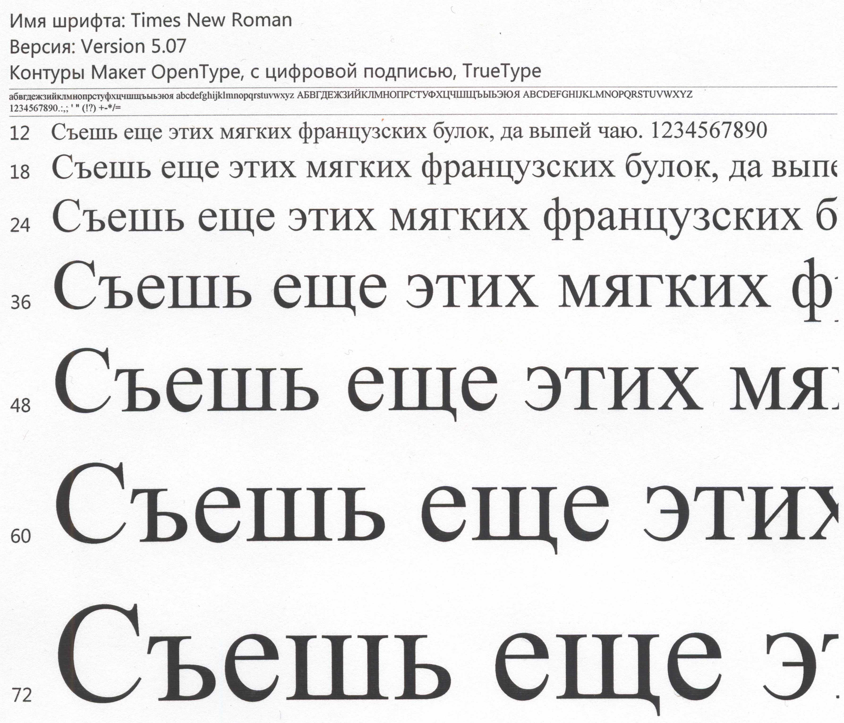 Libreoffice Шрифт Times New Roman